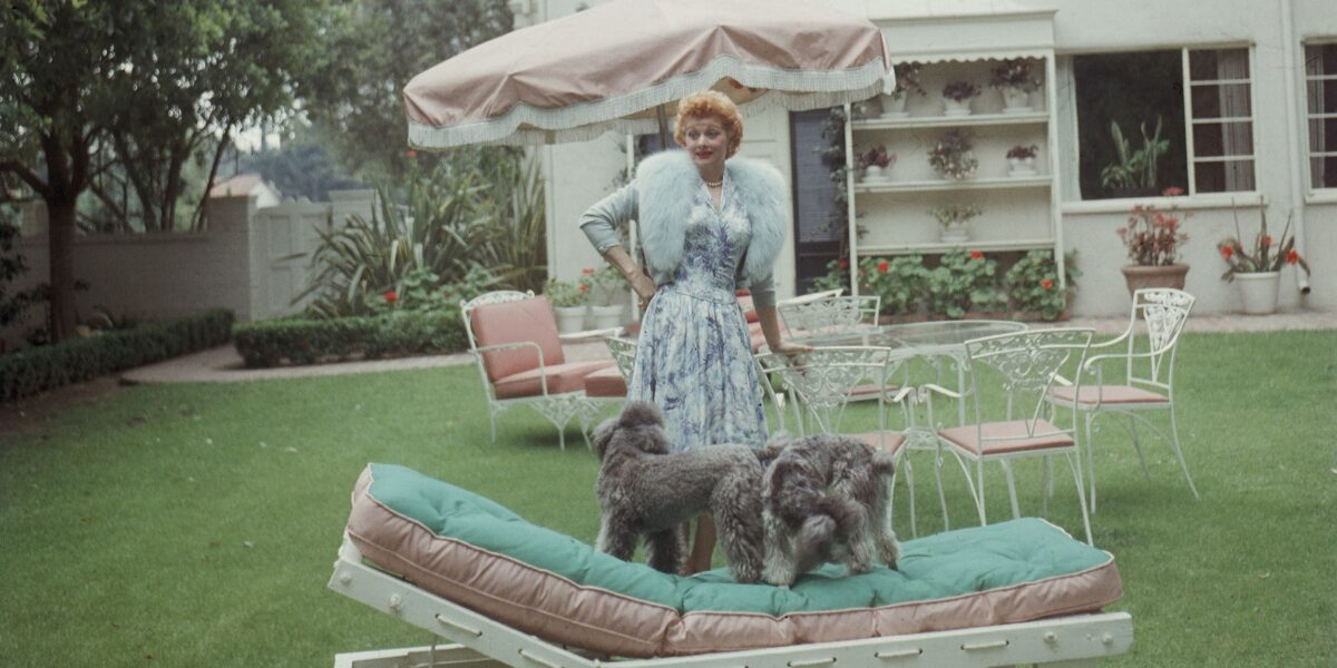 Lucille Ball at her Roxbury Drive Home